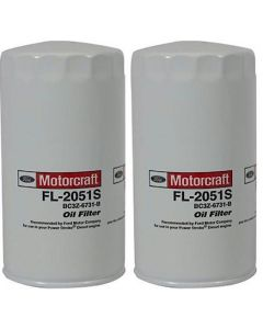 [fl-2051sX2]motorcraft fl2051s-Ford 6.7 liter turbo diesel oil filter(bc3z6731b)-2PACK