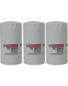 [fl-2051s(X3)]Motorcraft fl2051s-Ford 6.7 liter turbo diesel oil filter(bc3z6731b)-3PACK