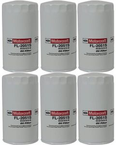 [fl-2051sX6]motorcraft fl2051s-Ford 6.7 liter turbo diesel oil filter(bc3z6731b)-6 PACK