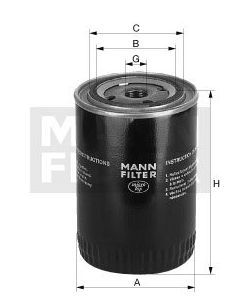 [W-940/37]Mann-Filter European Spin-on Oil Filter(SI - Industrial Heavy truck and Bus/Off-Highway )
