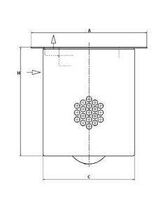 [LE42002X(4900051131)]Mann-Filter Industrial Air/Oil Separator Element(SI - Industrial Off-Highway Boxed)
