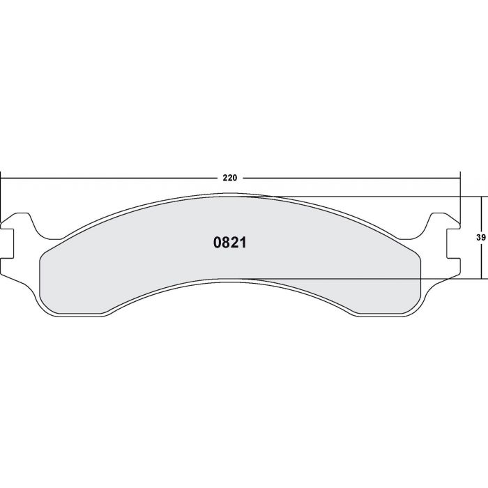 BRAND NEW PERFORMANCE FRICTION FRONT BRAKE PADS 0821.20 D821 FITS *SEE CHART*