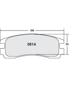 [0814.20]Performance Friction Carbon Metallic brake pads.FMSI(D814)(old pfc #8144)