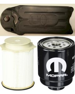 [68197867AB-68157291AA-CV52001]Mopar fuel filter Kit(Contains both fuel fitlers) and Fleetguard CCV filter-2013-up Dodge HD truck with 6.7 liter diesel