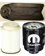 [68197867AB-FS53000-CV52001]Mopar and Fleetguard fuel filter Kit(Contains both fuel fitlers) and Fleetguard CCV filter-2013-up Dodge HD truck with 6.7 liter diesel